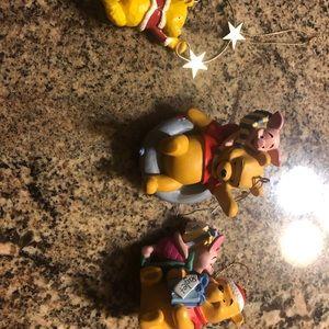 3 Winnie the Pooh Christmas ornaments